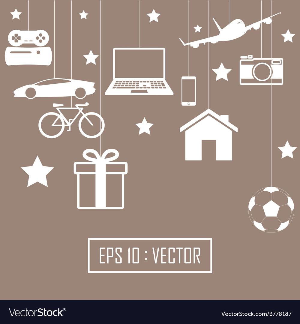 Big gift set vector