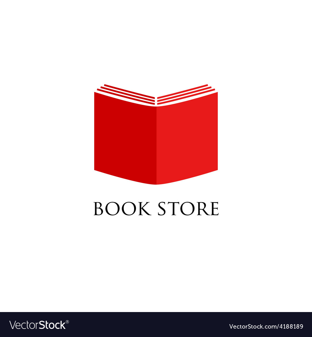 Book store or library logo sign vector