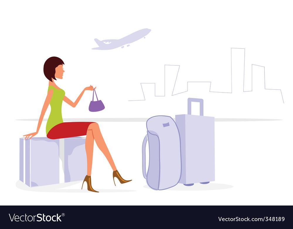 Journey lady vector