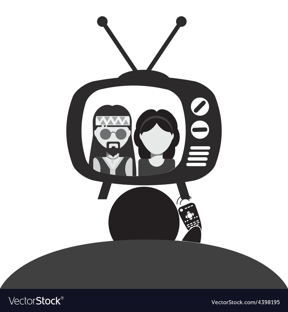 Tv entertainment vector