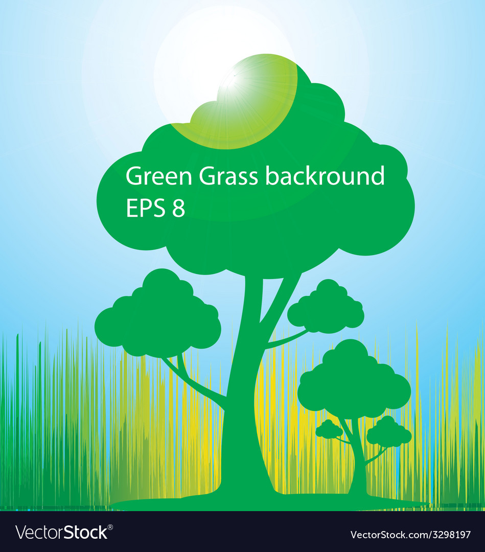 Green-grass-background vector