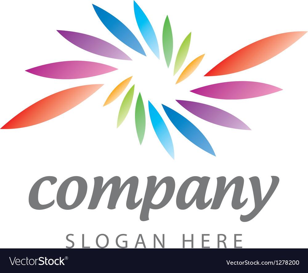 Logo of colored petals vector