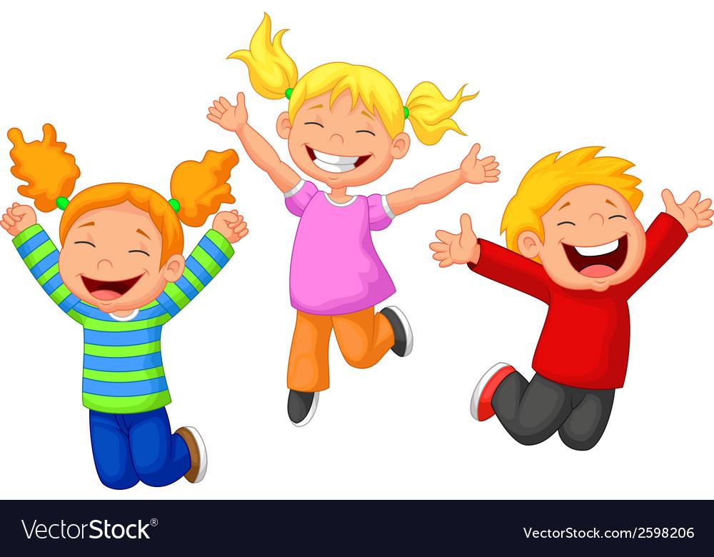 Happy kid cartoon vector