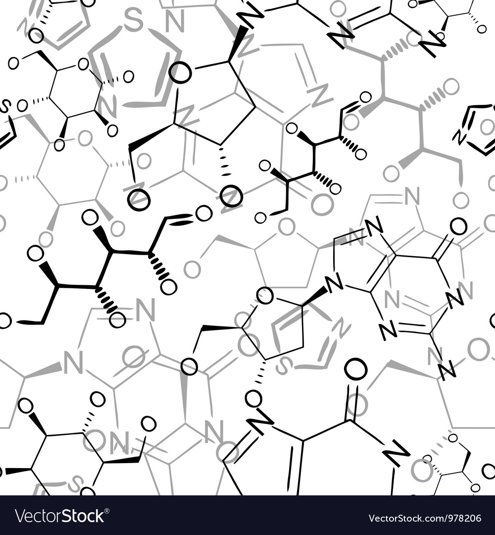 Seamless chemical pattern vector