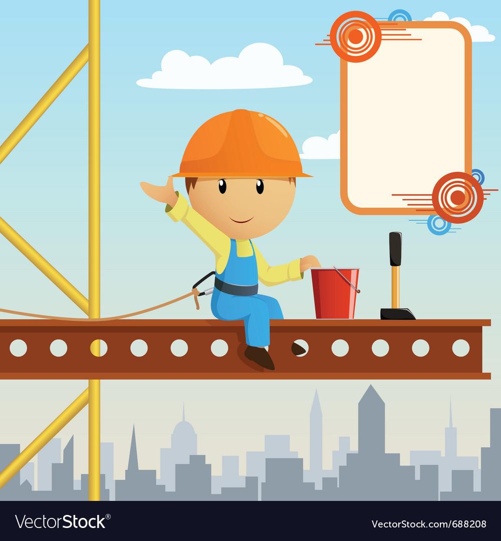 Builder worker steeplejack vector
