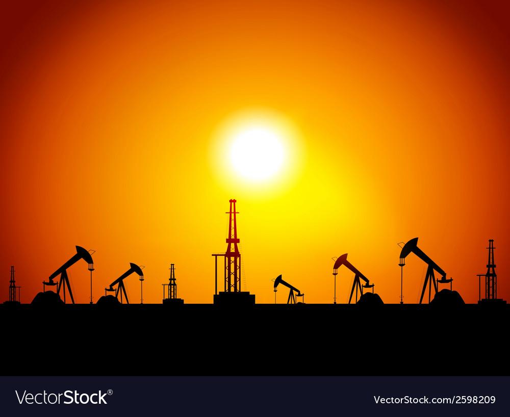Oil station vector