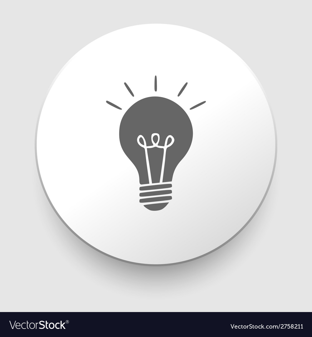 Electric lamp icon - vector