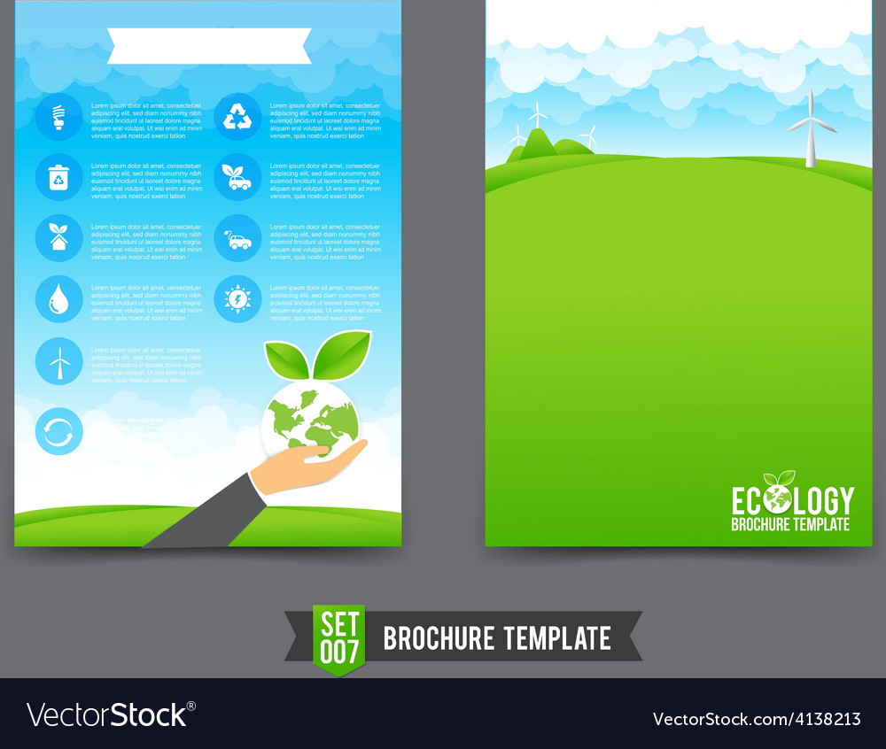 Flyer brochure background template 0007 ecology vector