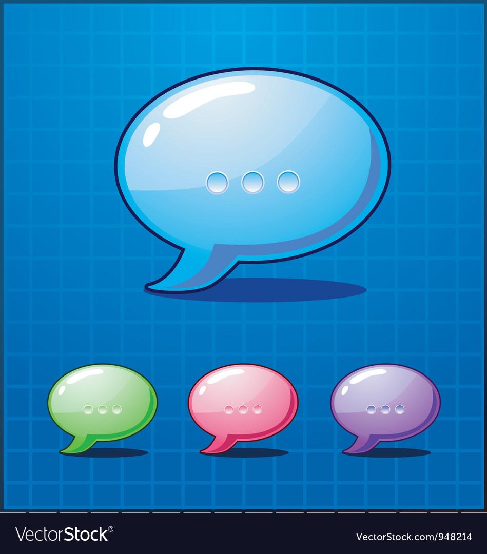 Set bubble chat icon vector