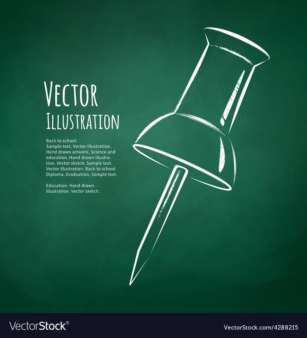 Push pin vector