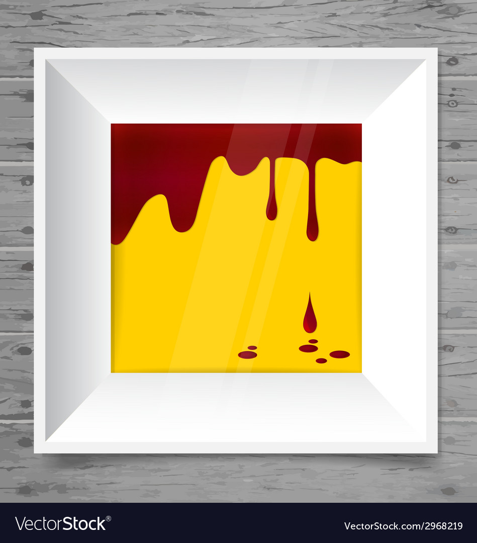 Blood dripping on modern frame blood background vector