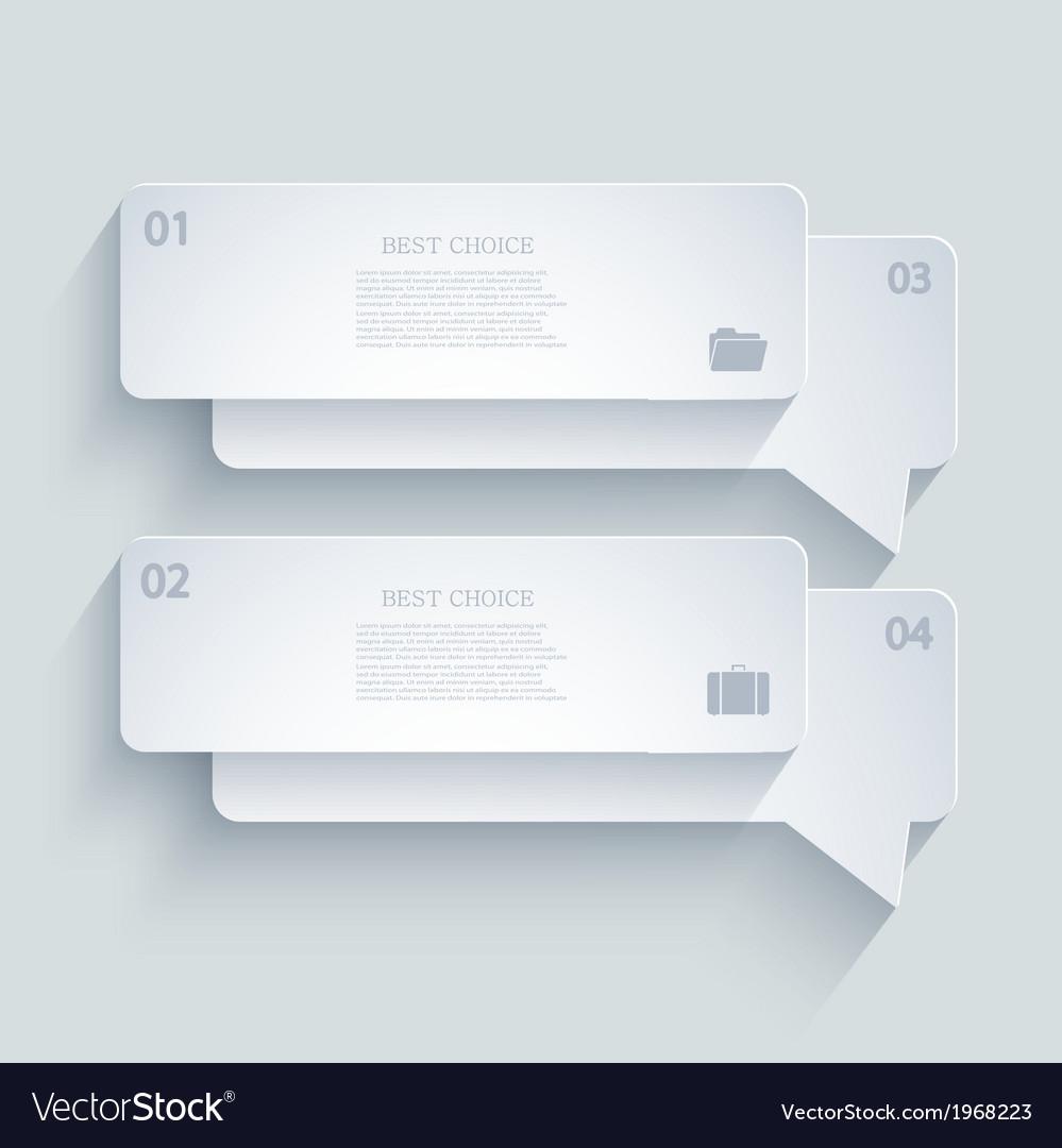 Modern infographic element design eps 10 vector