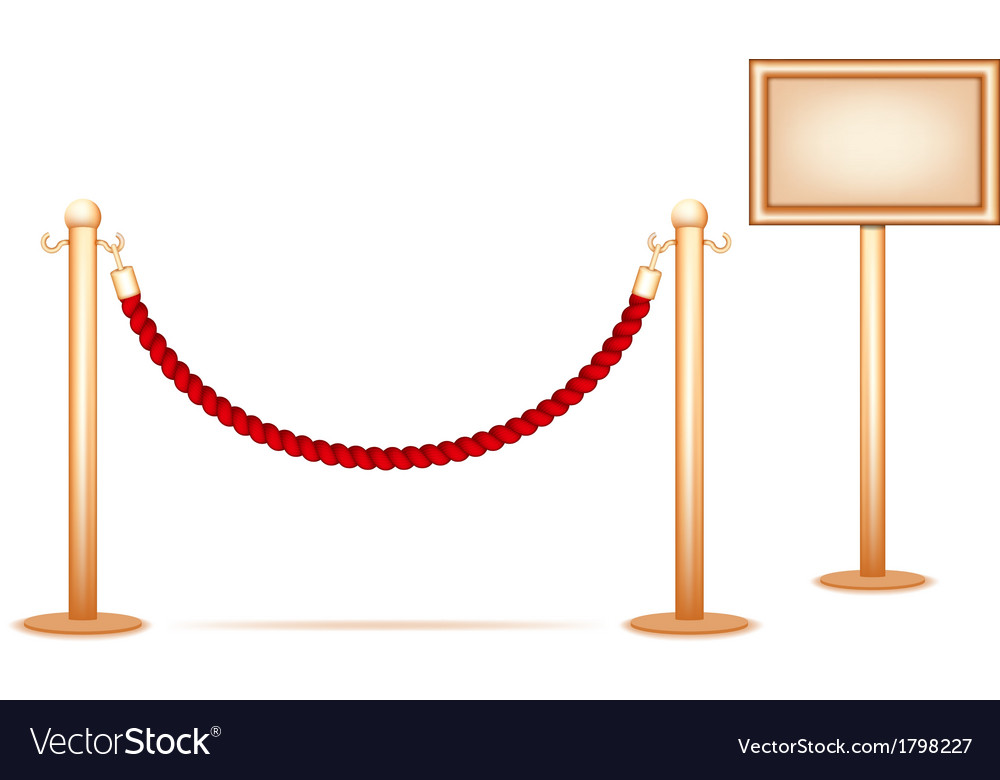 Barrier rope vector