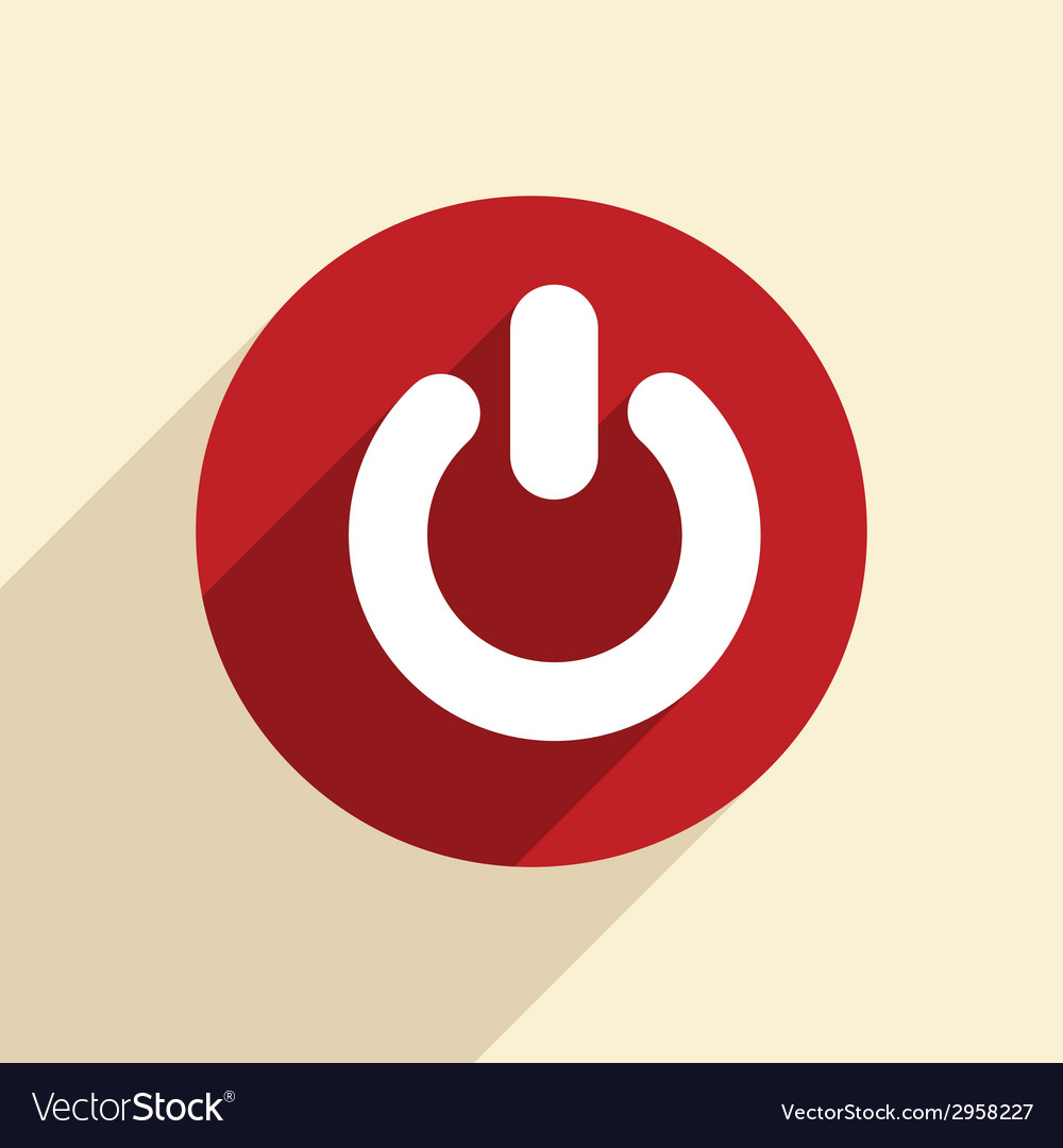 Power sign on off vector