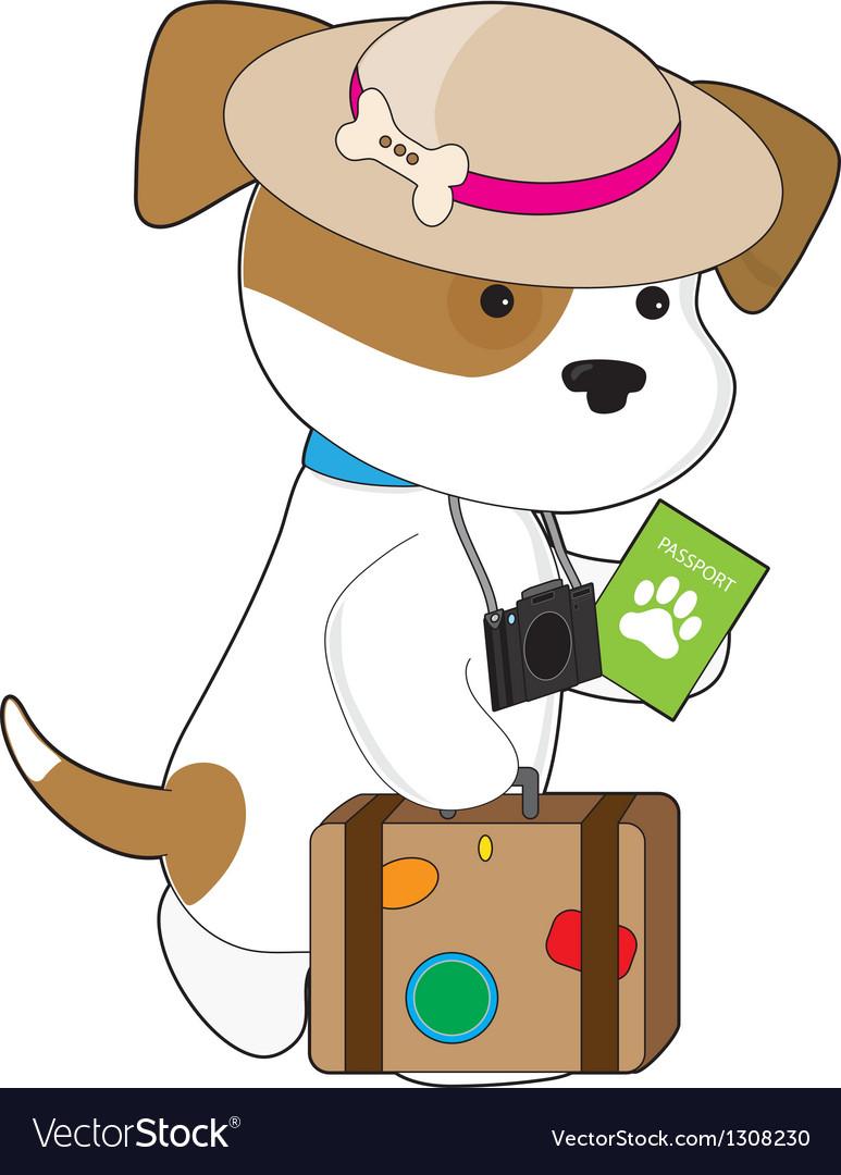 Puppy travel vector