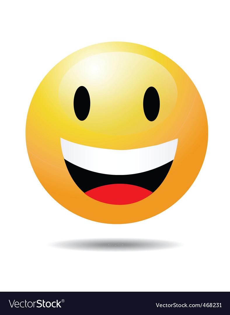 Open eye smile vector