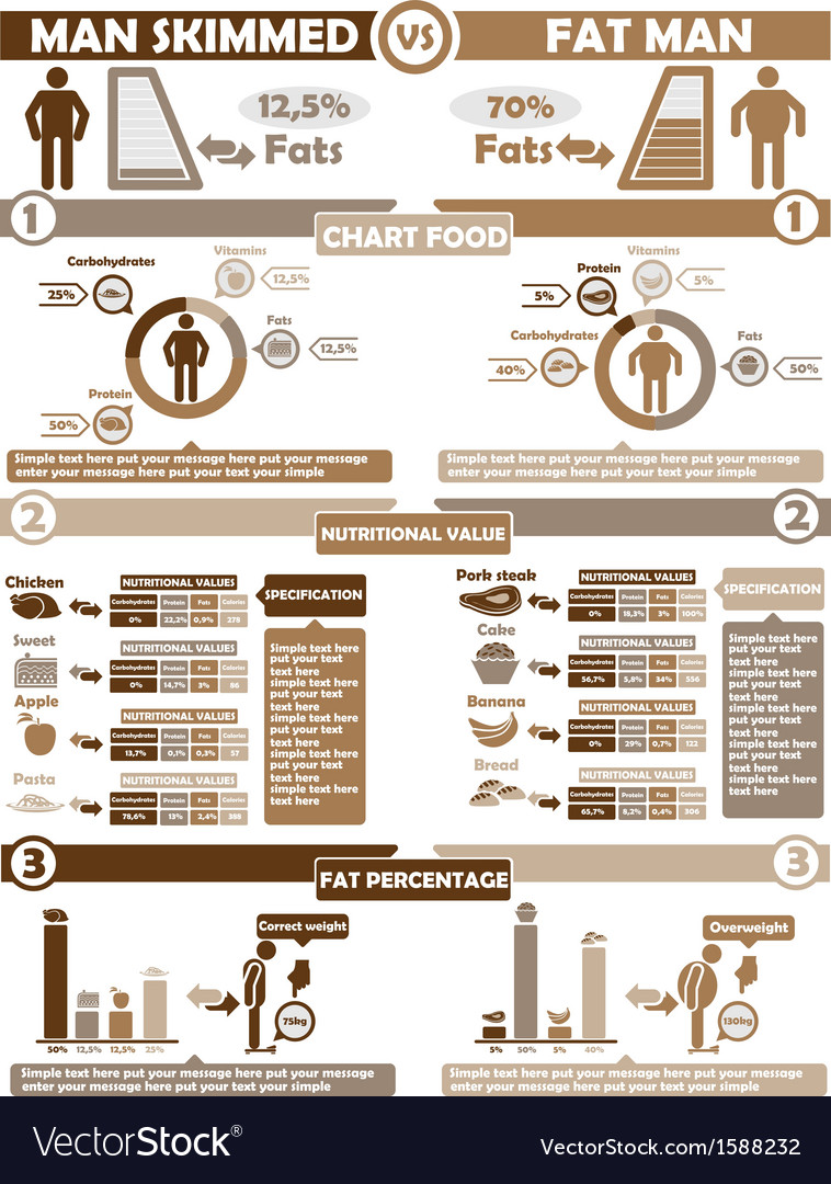Infographic nutrition brown vector