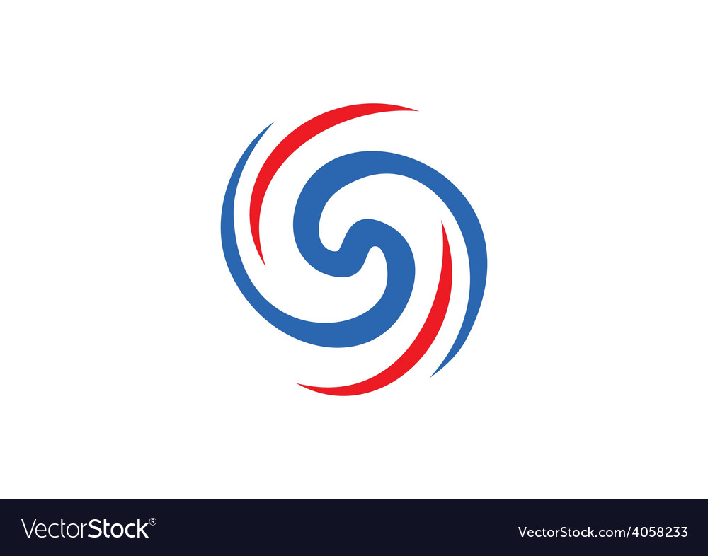 Circular abstract swirl logo vector