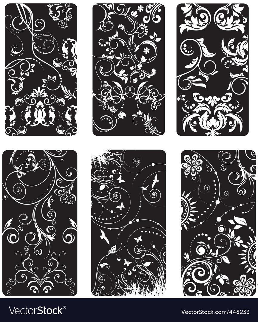 Swirls floral vector