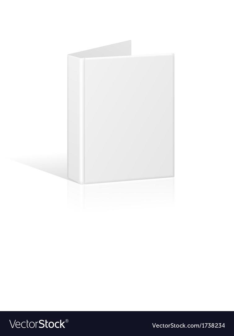 Blank book cover binder or folder template vector