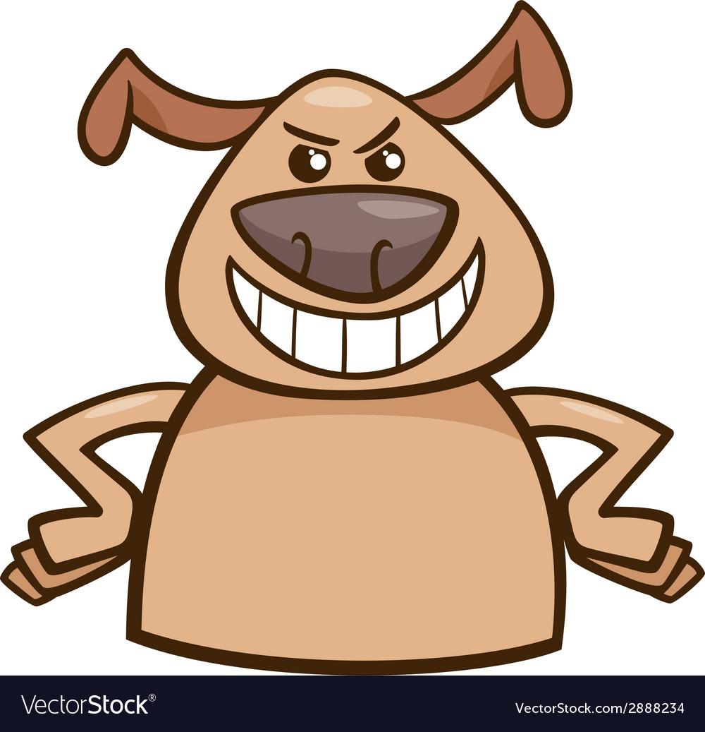 Mood cruel dog cartoon vector