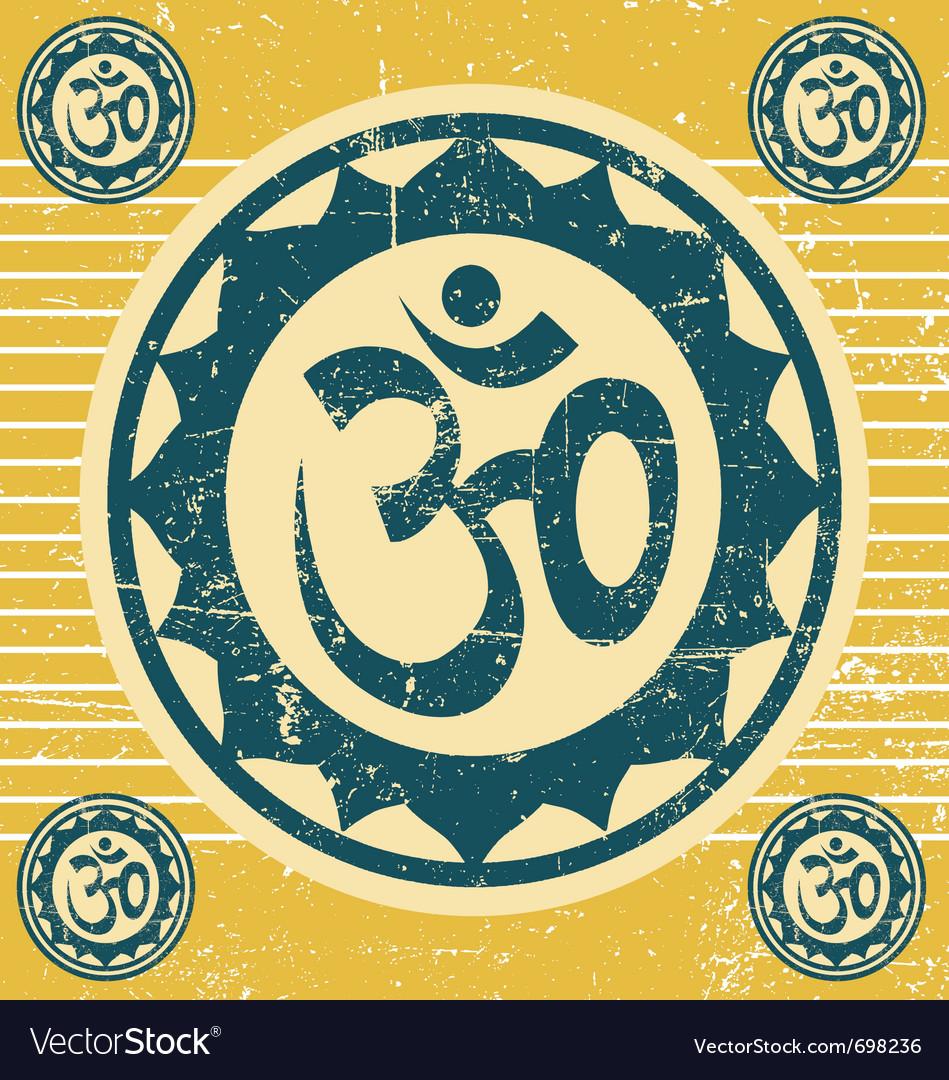 Indian ohm symbol vector