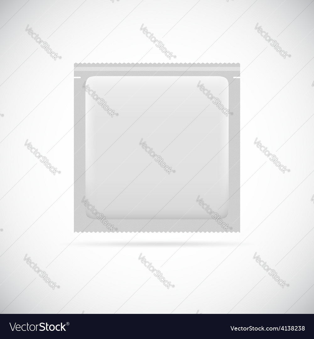 Blank foil packaging vector