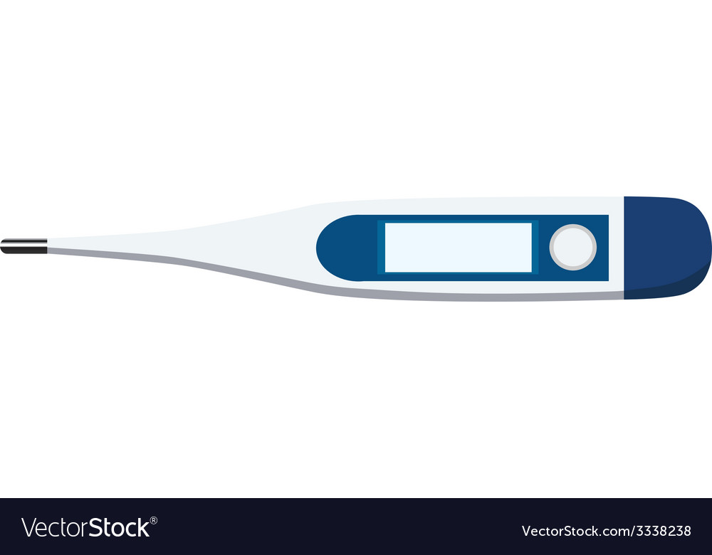 Digital thermometer vector