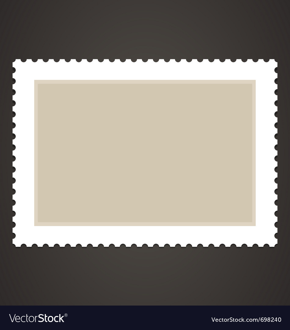 Blank stamp vector