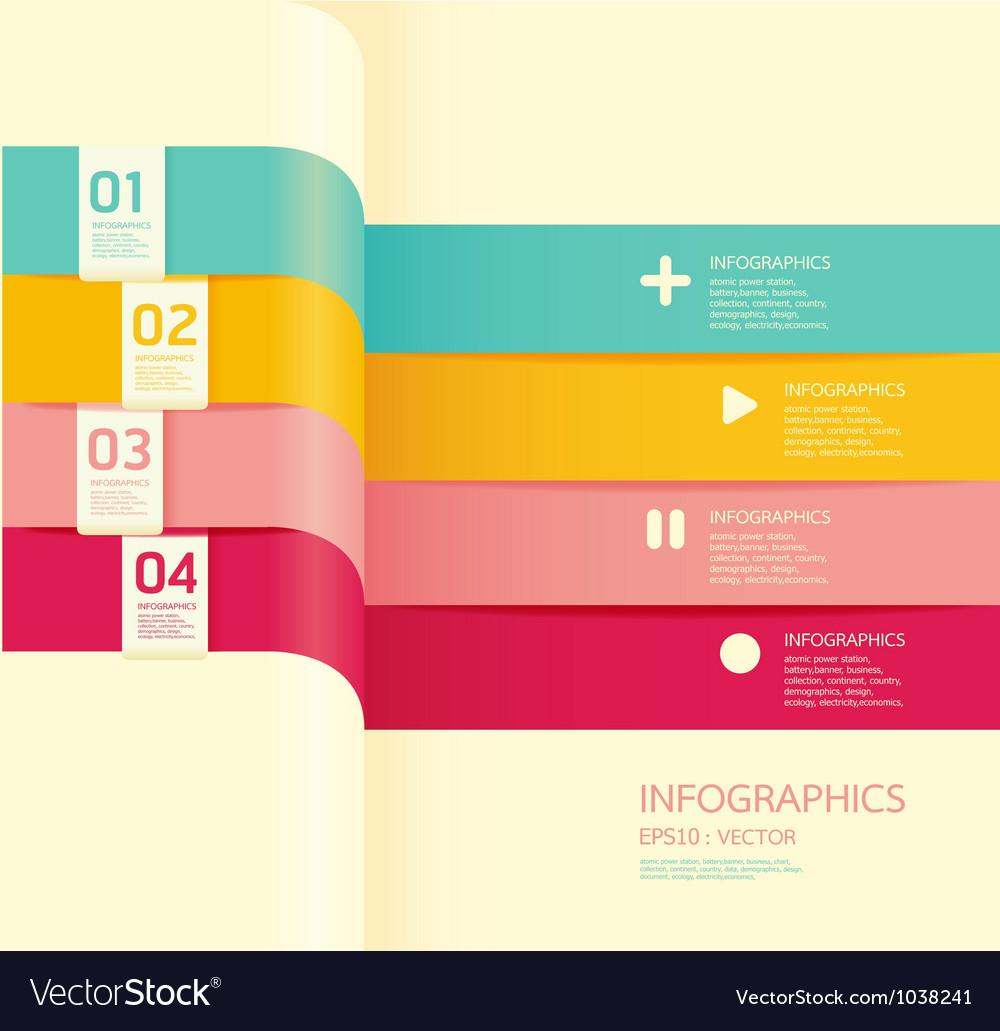 Modern soft color design banner vector