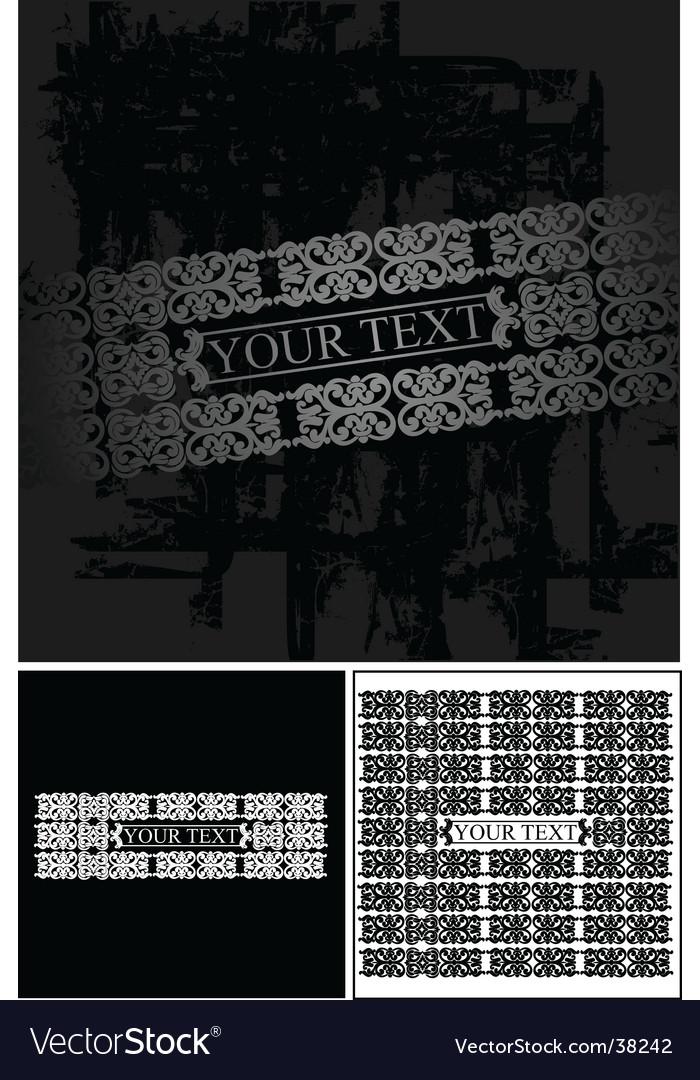 Grunge ornate banner vector