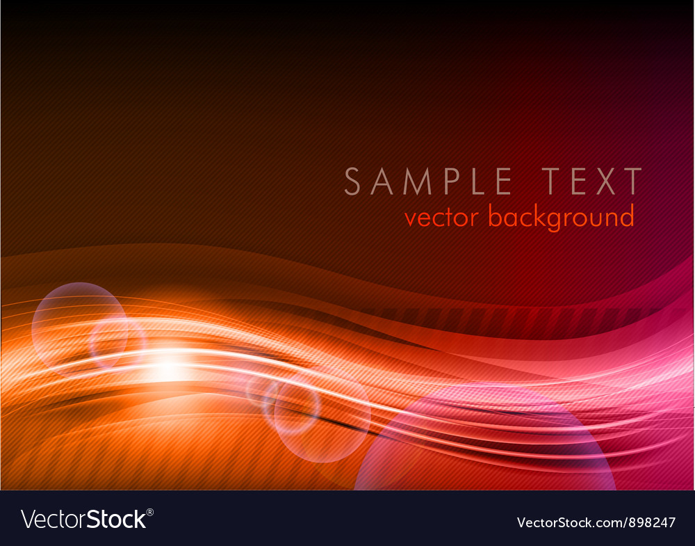 Wave abstract red vector