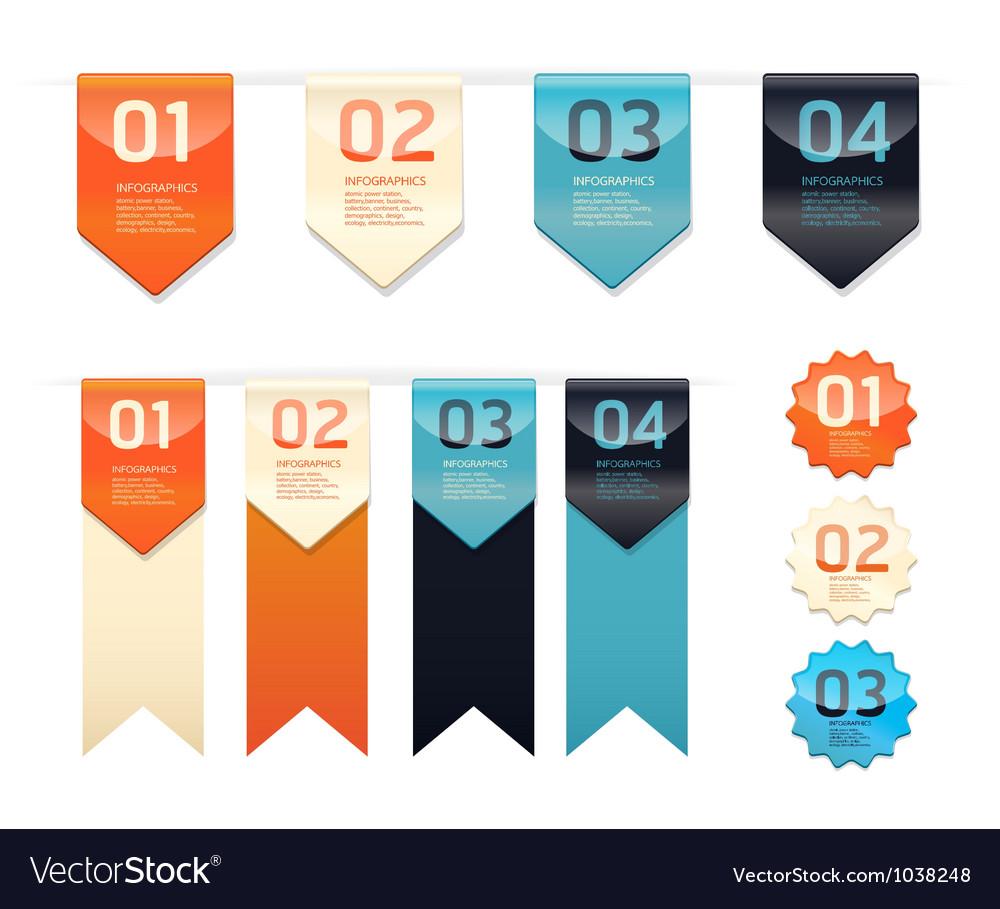 Modern design button vector