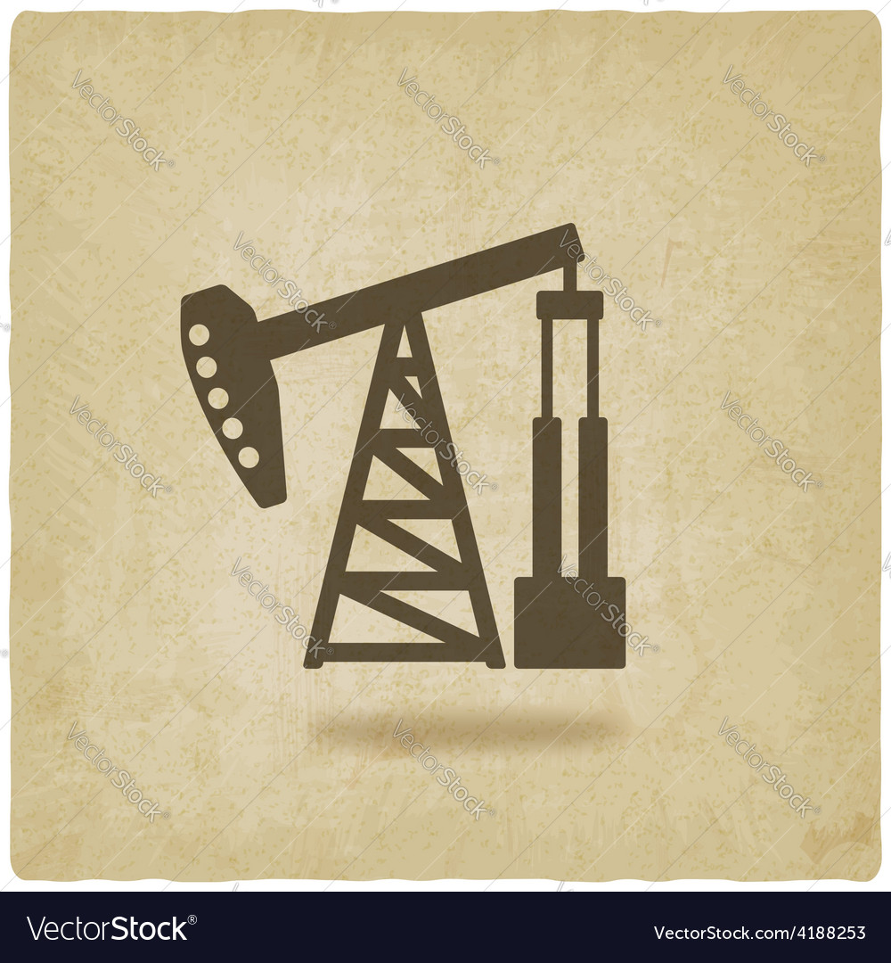 Oil pump symbol vector