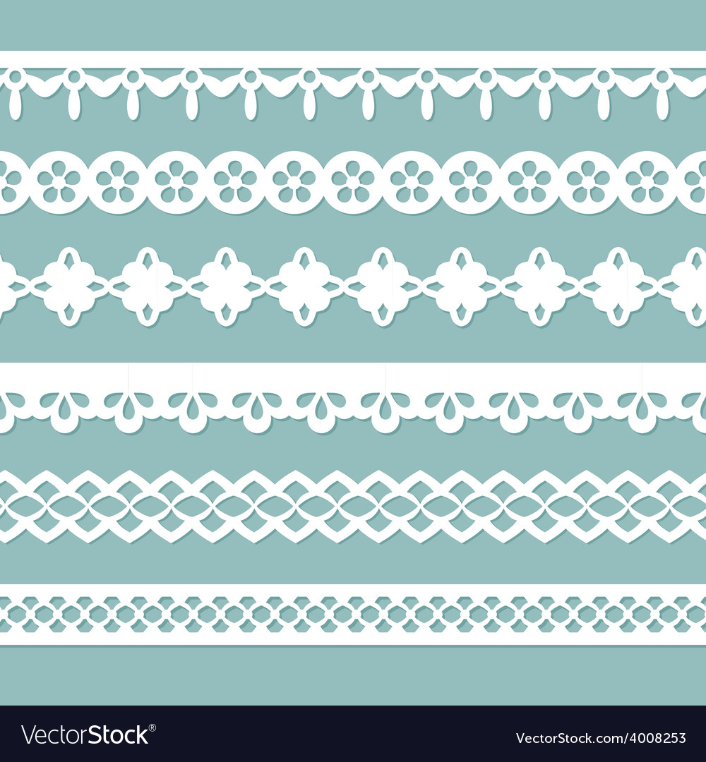 Set of seamless laces vector