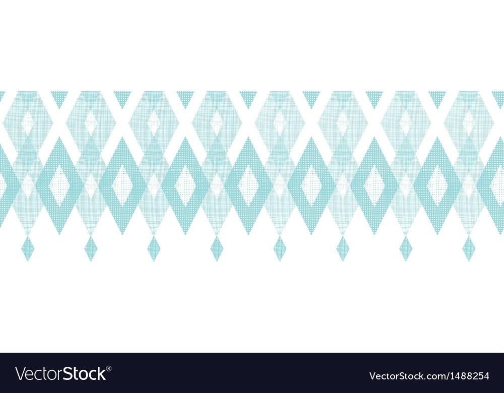 Pastel blue fabric ikat diamond horizontal vector