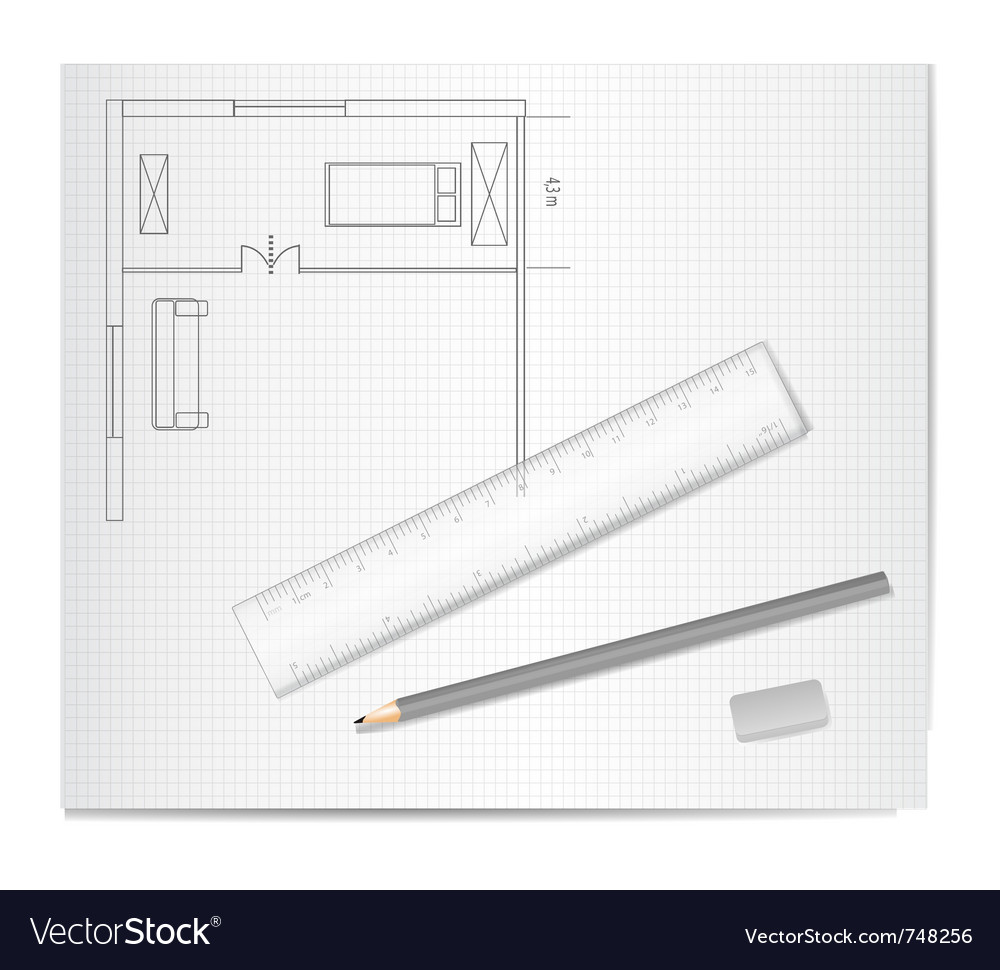 Drawing architecture vector