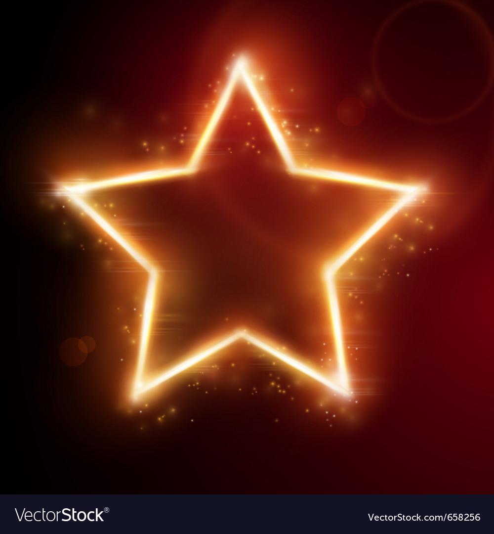 Fiery star frame vector