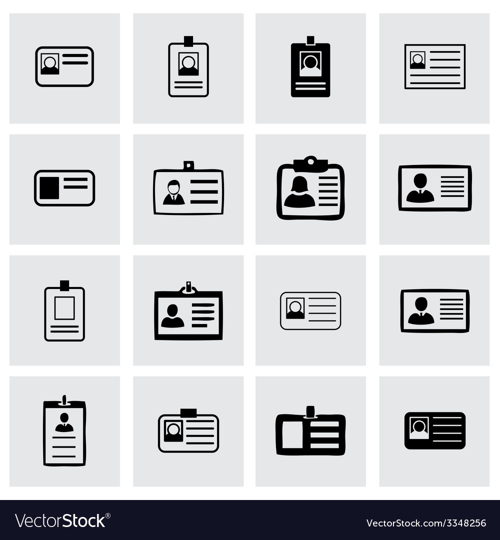 Ice card icon set vector