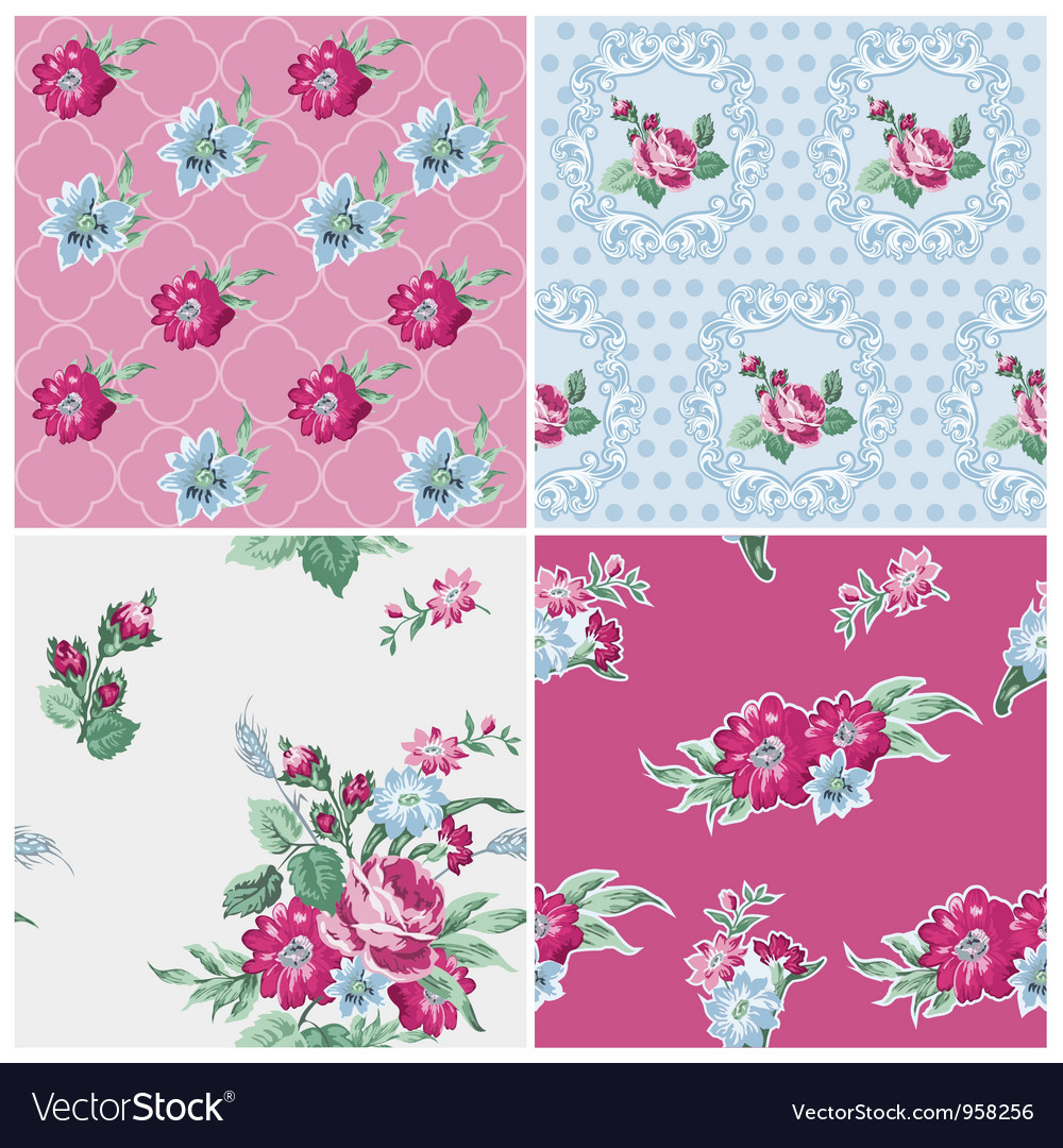 Seamless background collection vector