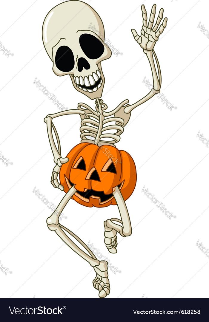Happy skeleton vector