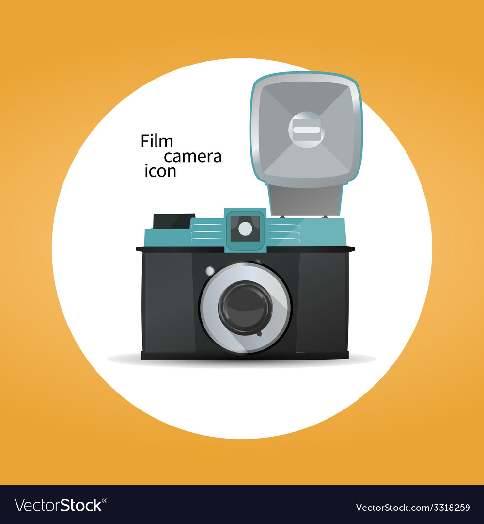 Film camera icon concept vector