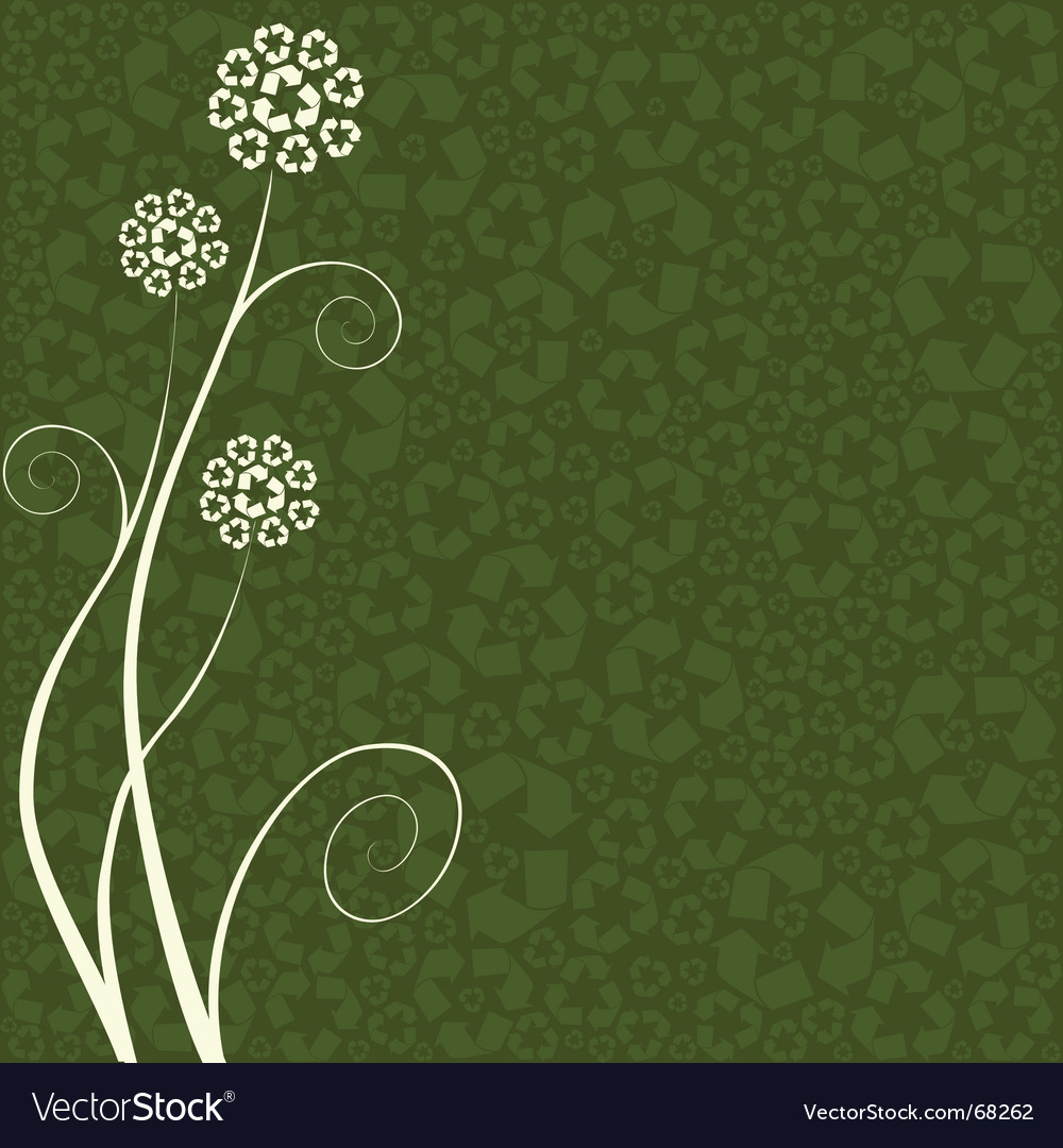 Recycling flower vector