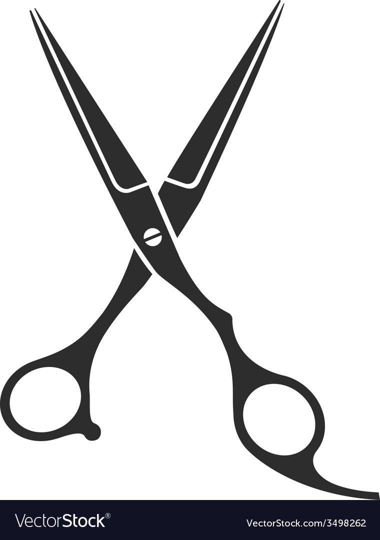 Vintage barber shop scissors vector