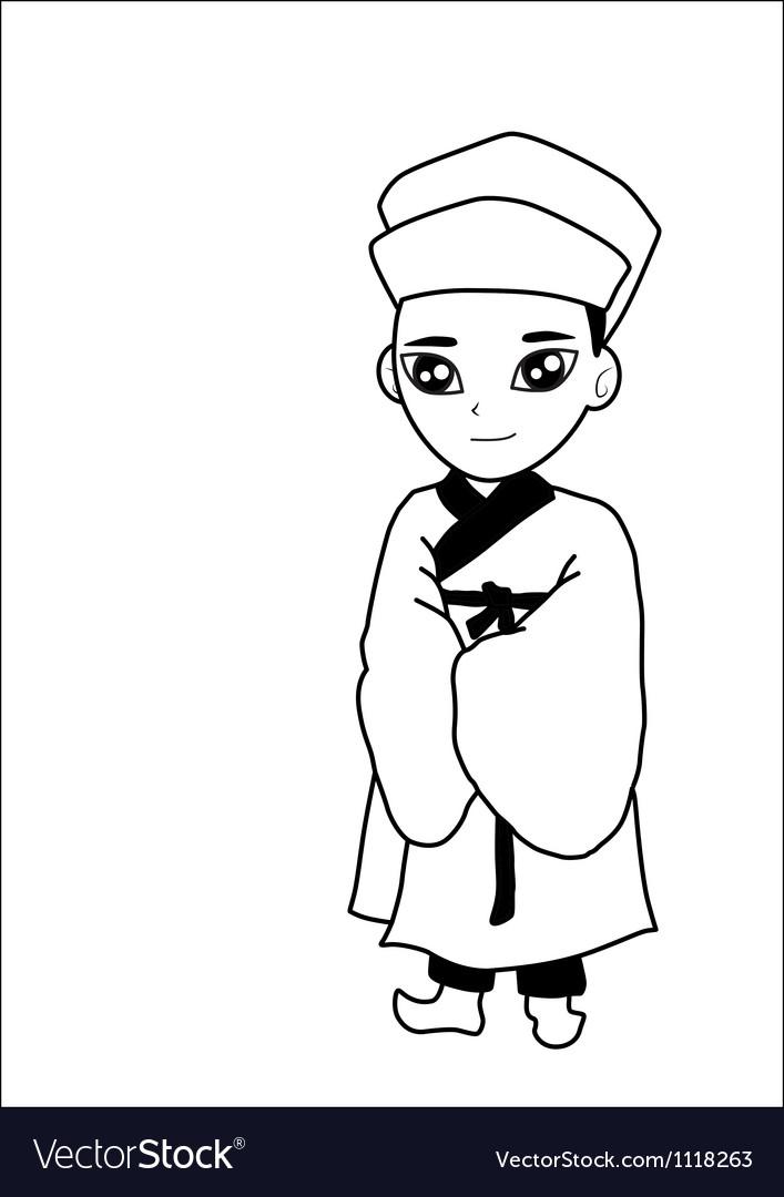 Men wear hats cartoon vector