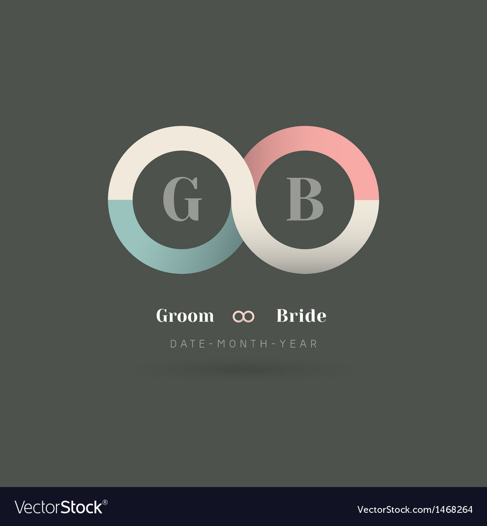 Infinity symbol wedding invitation vector
