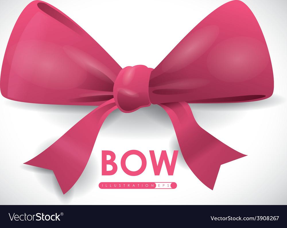 Bow decoration vector