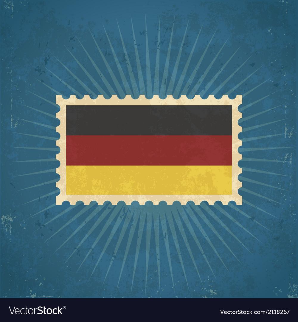 Retro german flag postage stamp vector