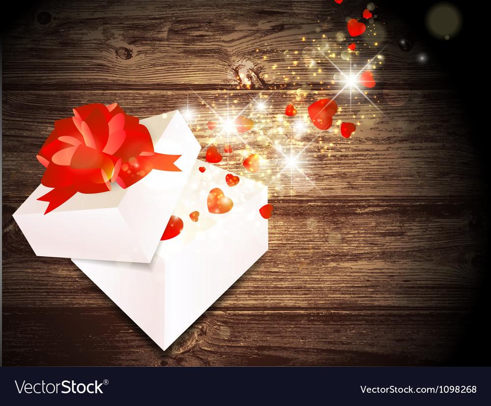 Valentine day magic gift vector