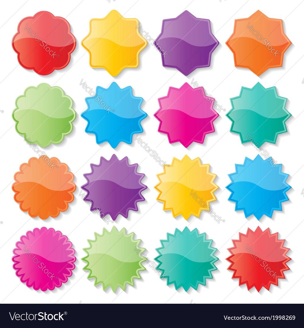 Colorful seals vector